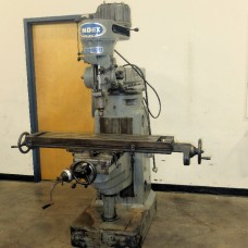 "WELLS INDEX VERTICAL MILLING MACHINE MODEL 845 2 HP STEP PULLEY TYPE 9"" x 46"" TABLE"