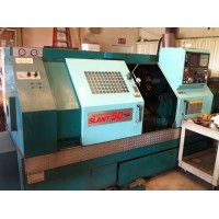 "METHODS SLANT 50 CNC TURNING CENTER WITH 10"" KITAGAWA CHUCK, YASNAC LX3 CONTROL, CHIP CONVEYOR, 1994"