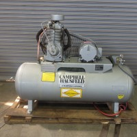 CAMPBELL HAUSFELD 5 HP INDUSTRIAL AIR COMPRESSOR 220 VOLT 3 PHASE