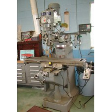 "SHARP VERTICAL MILLING MACHINE WITH 9"" x 50"" TABLE NEWALL TOPAZ DIGITAL READ OUT AND LONGITUDINAL POWER FEED IN MINT CONDITION"