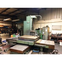 "NOMURA 4"" TABLE TYPE HORIZONTAL BORING MILL MODEL B-100WR WITH DIGITAL READ OUT 60"" VERTICAL TRAVEL"