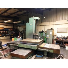 """4"""" NOMURA TABLE TYPE HORIZONTAL BORING MILL MODEL B-100WR WITH DIGITAL READ OUT 60"""" VERTICAL TRAVEL"""