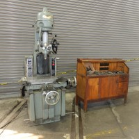 MOORE MODEL 1 1/2B  JIG BORER REMANUFACTURED BY MOORE WITH LARGE ASSORTMENT OF TOOLING AND MOORE CABINET