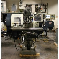 "BRIDGEPORT EZ TRAK DX 3-AXIS CNC VERTICAL MILLING MACHINE WITH 3-AXIS DIGITAL READ OUT 1996 WITH 9"" x 48"" TABLE USA"