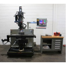 "BRIDGEPORT V2XT 3-AXIS CNC VERTICAL MILLING MACHINE DX32 CONTROL 9"" x 48"" TABLE MINT CONDITION 1999 LOADED WITH TOOLING"