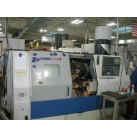 DAEWOO PUMA 230SA CNC LATHE Fanuc 18iT Subspindle Chip Conveyor 2001