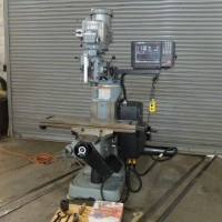 BRIDGEPORT VERTICAL MILLING MACHINE WITH ANILAM 1100 2-AXIS CNC CONTROL