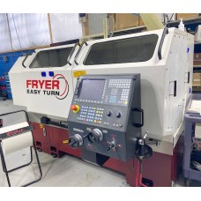 "FRYER ET-21 EASY TURN CNC ENGINE LATHE 21"" x 60""cc WITH SIEMENS 828 CONTROL TURRET COLLET CHUCK 2017 EXCELLENT CONDITION"