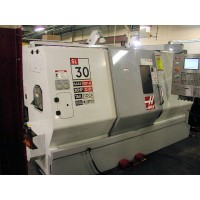"""HAAS SL30T CNC TURNING CENTER 30"""" SWING WITH 10"""" CHUCK, TAILSTOCK AND CHIP CONVEYOR 2006"""