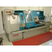 """FORTUNE 22"""" x 80"""" CNC FLAT BED LATHE WITH FAGOR 8037TS CNC CONTROL 12"""" 3-JAW CHUCK, 3 1/8"""" SPINDLE BORE MODEL 2280 ENC NEW IN 2008"""