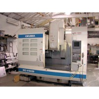 "OKUMA MC-V4020 VERTICAL MACHINING CENTER WITH OKUMA OSP-U10M CNC CONTROL 40 x 20 x 18"" TRAVEL 8000 RPM 2001"