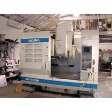 """OKUMA MC-V4020 VERTICAL MACHINING CENTER WITH OKUMA OSP-U10M CNC CONTROL 40 x 20 x 18"""" TRAVEL 8000 RPM 2001"""