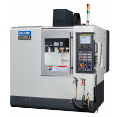SHARP SV-2414A-F VERTICAL MACHINING CENTER MINI MILL WITH BOX WAYS FANUC CONTROL 4TH AXIS WIRED