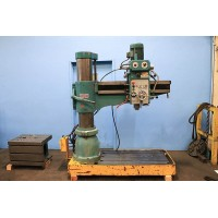 "SAN YUEH 4' x 8"" RADIAL ARM DRILL PRESS TAIWAN 1989 Model SY-1100"