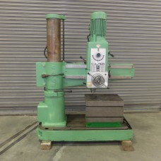 "CASER 3' x 9"" RADIAL ARM DRILL PRESS MODEL F-32 HOLE WIZARD WITH BOX TABLE MFG. IN ITALY"