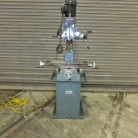ARBOGA GEAR HEAD VERTICAL MILLING MACHINE MODEL A6041 MILLING DRILLING MACHINE BENCH TYPE MILLING MACHINE WITH FACTORY BASE 1993 R8 SPINDLE SINGLE PHASE