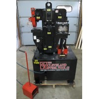 CLEVELAND 25 TON HYDRAULIC IRONWORKER MODEL CST 25 SINGLE PHASE