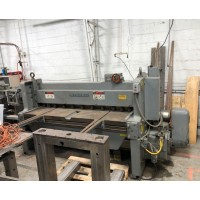 WYSONG 6' x 10 GAUGE MECHANICAL POWER SHEAR MODEL #1072 WITH FRONT OPERATED BACK GAUGE AND FRONT SUPPORTS