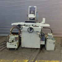 """MAX-O 8"""" x 18"""" AUTOMATIC SURFACE GRINDER 2-AXIS AUTOMATIC MODEL KGS-250AH WITH DUST SUCTION AND COOLANT PERMANENT MAGNETIC CHUCK"""