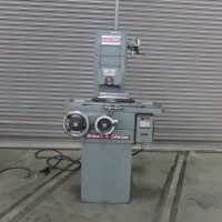 BROWN & SHARPE 612 MICROMASTER HAND FEED SURFACE GRINDER WITH FINE FEEDS AND WALKER FINE POLE PERMANENT MAGNETIC CHUCK
