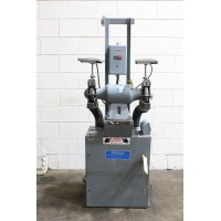 "CINCINNATI 3/4 HP DOUBLE END PEDESTAL GRINDER 7"" DIAMETER HEAVY DUTY USA MODEL SPL TYPE 8FQ-Y"
