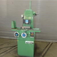 """BROWN & SHARPE VALUMASTER 6"""" x 12"""" PRECISION HAND FEED SURFACE GRINDER WITH WALKER PERMANENT MAGNETIC CHUCK FINE FEEDS 1984"""