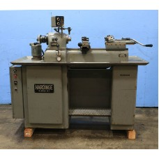 HARDINGE DSM-59 SECONDARY OPERATION LATHE DV-59 PRECISION SECONDARY OPERATION LATHE WITH DOUBLE CROSS SLIDE AND TURRET