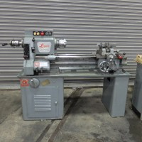 LOGAN 14 INCH VARIABLE SPEED LATHE WITH COMPOUND TURRET TURRET LATHE CHUCKER FULLY TOOLED USA