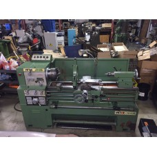 VICTOR 1640B ENGINE LATHE GAP BED INCH/METRIC FULLY TOOLED WITH 6 JAW ADJUSTABLE BUCK CHUCK 4-JAW BISON INDEPENDANT LATHE CHUCK, LARGE STEADY REST