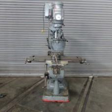 "BRIDGEPORT 1 1/2 HP VARIABLE SPEED VERTICAL MILLING MACHINE MODEL 2J WITH 9"" X 42"" TABLE WITH VISE COLLETS CLAMPING KIT"