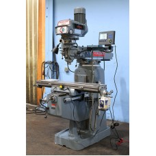 "CLAUSING KONDIA VERTICAL MILLING MACHINE WITH 9"" x 48"" TABLE ACU-RITE 3-AXIS DIGITAL READ OUT AND LONGITUDINAL POWER FEED IN LIKE NEW CONDITION"