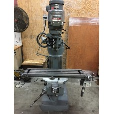 "BRIDGEPORT 2 HP VARIABLE SPEED VERTICAL MILLING MACHINE WITH 9"" x 42"" TABLE AND BRIDGEPORT POWER FEED FROM HOME SHOP WITH ORIGINAL PAINT"