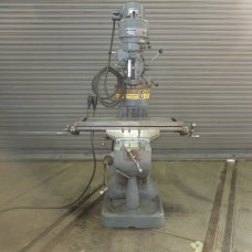 """BRIDGEPORT 1 HP STEP PULLEY TYPE VERTICAL MILLING MACHINE WITH 9"""" x 36"""" TABLE NICE WAYS QUIET"""