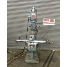 """BRIDGEPORT VARIABLE SPEED VERTICAL MILLING MACHINE WITH 9"""" x 48"""" TABLE DIGITAL READ OUT POWER DRAWBAR"""