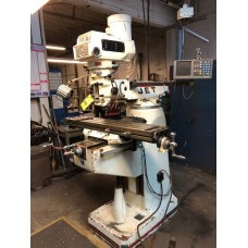 """JET JTM-4VS VERTICAL MILLING MACHINE VARIABLE SPEED 9"""" x 49"""" TABLE ACU-RITE 2-AXIS DIGITAL READ OUT"""