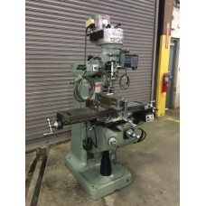 "BRIDGEPORT MODEL 1J PULLEY TYPE VERTICAL MILLING MACHINE WITH 9"" x 42"" TABLE WITH ACU-RITE DIGITAL READ OUT AND BRIDGEPORT POWER FEED"