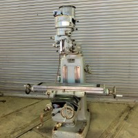 """INDUMA VERTICAL MILLING MACHINE WITH 9"""" x 42"""" TABLE 1 1/2 HP STEP PULLEY TYPE"""