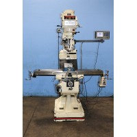 """JET JTM-4VS VERTICAL MILLING MACHINE VARIABLE SPEED 9"""" x 49"""" TABLE ACU-RITE 2-AXIS DIGITAL READ OUT AND LONGITUDINAL POWER FEED 2007"""