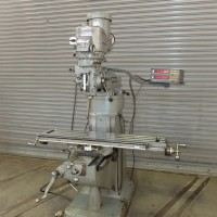 """BRIDGEPORT 2 HP VERTICAL MILLING MACHINE WITH 9"""" x 48"""" TABLE, SONY 2-AXIS DIGITAL READ OUT AND CHROME WAYS"""