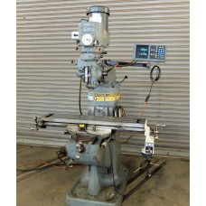 """BRIDGEPORT 2 HP VARIABLE SPEED VERTICAL MILLING MACHINE WITH 9"""" x 42"""" TABLE, CHROME WAYS, ACU-RITE 2-AXIS DIGITAL READ OUT POWER FEED"""
