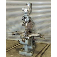 """BRIDGEPORT 1 1/2 HP VARIABLE SPEED VERTICAL MILLING MACHINE WITH BRIDGEPORT SWIVEL VISE AND ASSORTED COLLETS CHROME WAYS, 9"""" x 42"""" TABLE"""