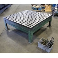 ACORN WELDING TABLE 5' x 5' WELDING PLATEN WITH FACTORY STAND