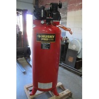 HUSKY 3.2 HP VERTICAL AIR COMPRESSOR SINGLE STAGE 60 GALLON TANK 220 VOLT SINGLE PHASE NEW IN 2011 MINT CONDITION