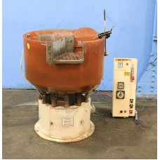 SWECO  2.5 CU. FEET  VIBRATORY FINISHING BOWL MODEL FMD-2.5 LR  WITH INTERNAL PARTS SEPARATOR 1988 NICE!