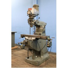 "BRIDGEPORT 1 1/2 HP VARIABLE SPEED VERTICAL MILLING MACHINE WITH 9"" x 42"" TABLE, BALL SCREWS, LONGITUDINAL POWER FEED, KNEE FEED AND CHROME WAYS NICE"