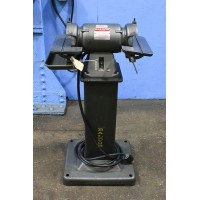 BALDOR DIAMOND WHEEL PEDISTAL GRINDER MODEL 532 ON FACTORY BASE MODEL 1/2 HP MINT CONDITION USA