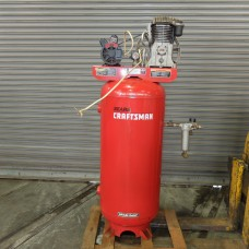 SEARS CRAFTSMAN 5 HP AIR COMPRESSOR VERTICAL TYPE SINGLE PHASE 60 GALLON TANK