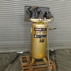 CAMPBELL HAUSFELD 7 HP VERTICAL INDUSTRIAL AIR COMPRESSOR 220 VOLT 1 PHASE