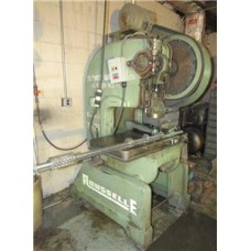 "ROUSSELLE MODEL 3F AIR CLUTCH O.B.I. POWER PRESS OPEN BACK INCLINEABLE 25 TON 2"" STROKE USA"