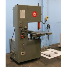 GROB MODEL 4V-18 VERTICAL BAND SAW VARIABLE SPEED WITH POWER FEED TABLE AND BLADE WELDER USA 1975